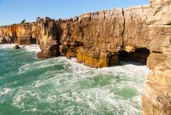 boca del inferno, on portuguese coast, near cascais