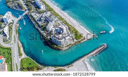Boca Raton Beach in Sunny South Florida Foto stock ©