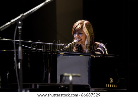 BOCA RATON, FLORIDA, USA - DECEMBER 4: Singer and song writer Christina Perri performs on stage at No Snow Ball 2010 - December 4th, 2010 in Boca Raton, Florida, USA.