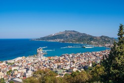 Bochali viewpoint in Zante, Zakynthos, Greece, popular travel destination
