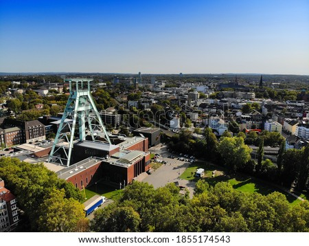 Bochum city, Germany. Industrial heritage of Ruhr region. Former coal mine, currently German Mining Museum.