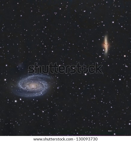 Bode's Nebulae or M81 and M82 - stock photo