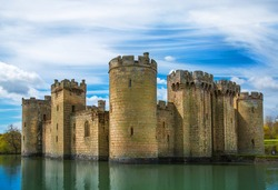 Bodiam Castle 14th-century moated fortification. England, UK