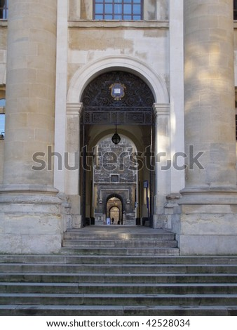 Bodleian Library in Oxford (Oxford University) - perspective of arches