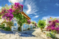 Bodrum street view in Turkey ( HDR shot )