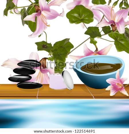 Body care.The spa procedure concept