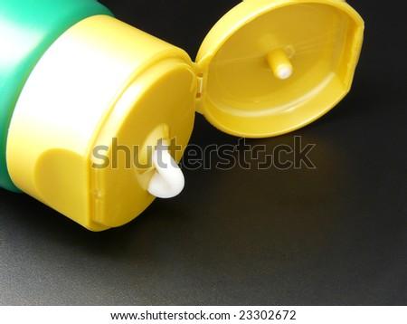 Body cream in tube - stock photo