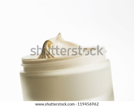 body cream on a white background