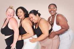 Body positivity diverse curvy women sportswear