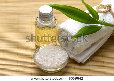 Body relax composition with towel, and bamboo leaf ,oil,