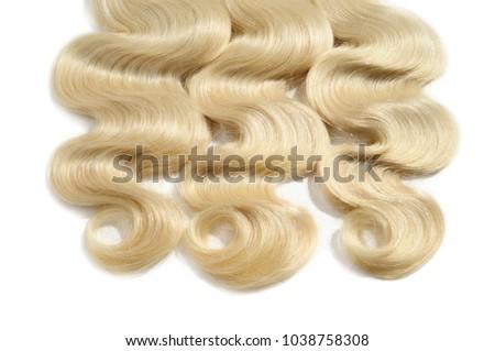 Body wave blonde human hair weaves extensions bundles