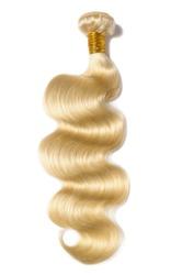 body wave wavy bleached blonde human hair weaves extensions bundles