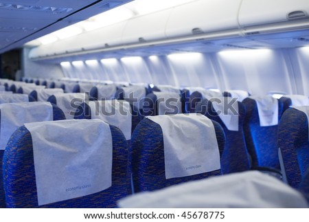 boeing airplaine interior empty and passangers free