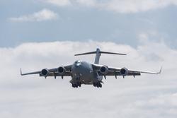 Boeing C-17 Globemaster 3 military transport aircraft landing