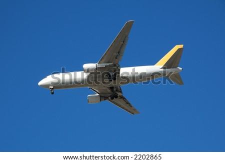 Boeing 767 cargo jet airplane - stock photo
