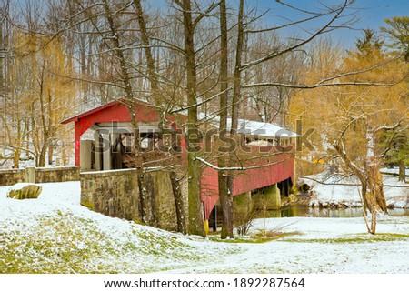 Bogert's Covered Bridge, Allentown, PA Foto stock ©