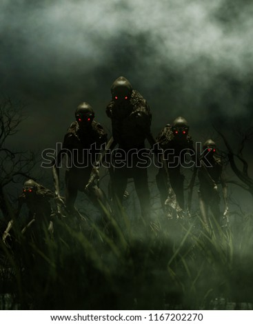 Bogeyman a creature of a nightmare,3d illustration for book illustration or book cover