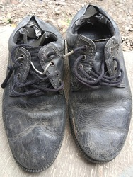 BOGOR, INDONESIA (ASIAN) shoes are dull and unfit to wear
