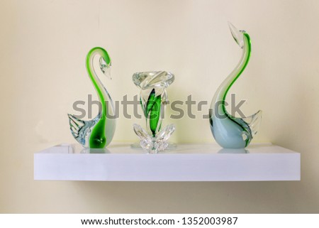Bohemian Crystal Display. Bohemian glass as Bohemian crystal is glass produced in the regions of Bohemia and Silesia, now part of the Czech Republic.