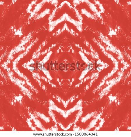 Bohemian Print. Geometric Seamless Embroidery. Tribal Decorative Texture. Decorative Graphic Element. Colorful Folk Background. Red, White Bohemian Print.