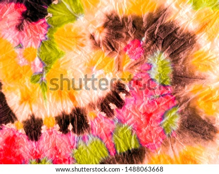 Boho style. Old paper texture. Abstract dynamic background. Dynamic artistic splashes. Tunisian pattern. Swirl on color background. Trendy tie-dye pattern. Ink blur.