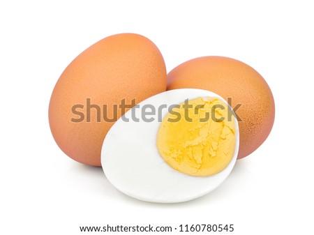 boiled egg isolated on white background  Stockfoto ©