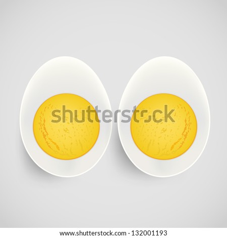 boiled egg with yolk