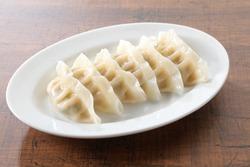 boiled  gyoza dumpling chinese food