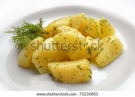 boiled potatoes - stock photo