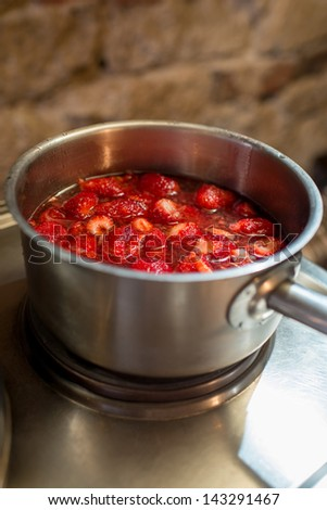 boiled strawberries
