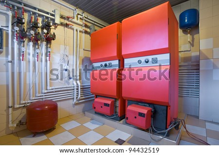boiler room in an apartment