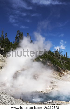 Boiling geothermal geyser  in Yellowstone Park #26317528