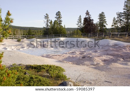 Boiling mud in Yellowstone