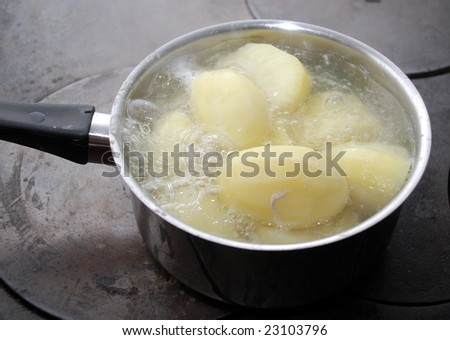 boiling potatoes an a wood stove