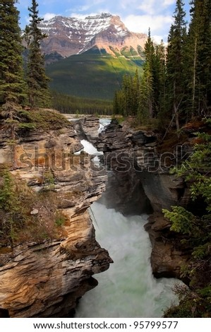 boiling water on the rapids in the Canadian Rockies