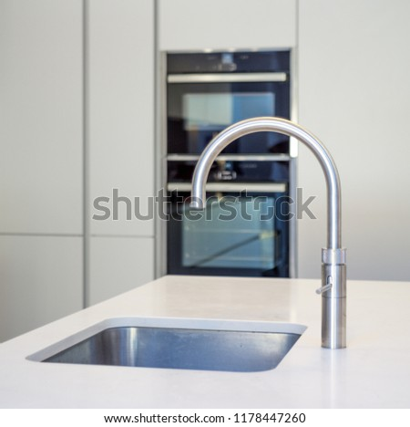 Boiling water tap in contemporary kitchen