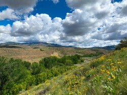 Boise, Idaho foothills in the spring