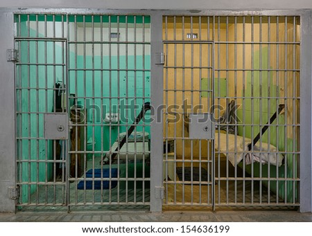 BOISE, IDAHO - JULY 31: Two cells on Death Row in the Old Idaho State Penitentiary on July 31, 2013 in Boise, Idaho