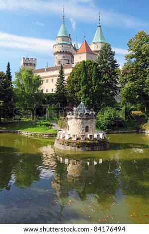 Bojnice castle with reflection - Slovakia