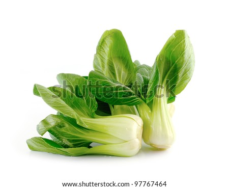 Bok choy (chinese cabbage) isolated on white ストックフォト ©