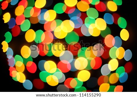 Boke abstract defocused red yellow green blue black background