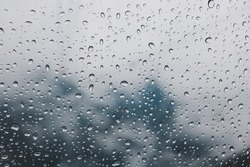 Boke water drop Rainy Day dark, somber, dull, gloomy