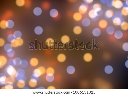 Bokeh abstract texture. Colorful. Defocused background. Blurred bright light. Circular points. #1006131025