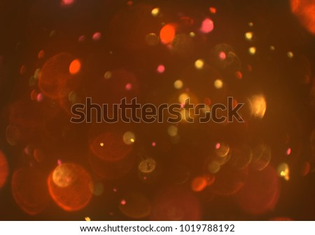Bokeh abstract texture. Colorful. Defocused background. Blurred bright light. Circular points. - Shutterstock ID 1019788192