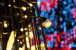 bokeh and mysterious brilliance of  illuminations light.