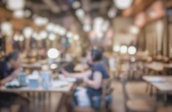 Bokeh atmosphere in the restaurant Adjust the image to blur and soften. For use as a backdrop