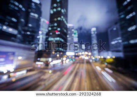Bokeh city light background with color tone tuned  #292324268