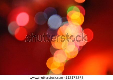 Bokeh. Color photo of blurred Christmas lights