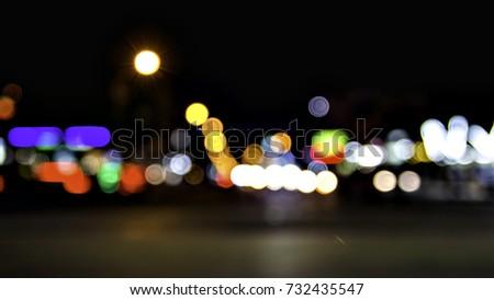 Bokeh effect night #732435547