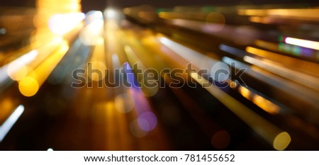 Bokeh effect of city lights background for overlay design